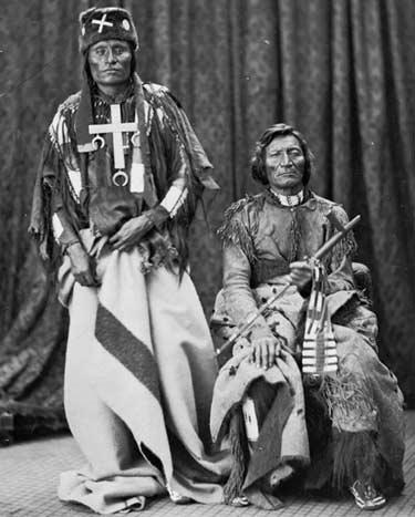 Вожди северных шайеннов в 1875 году