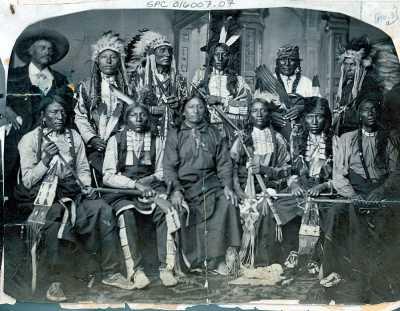Делегация индейцев-лакота. Вашингтон 1877 год