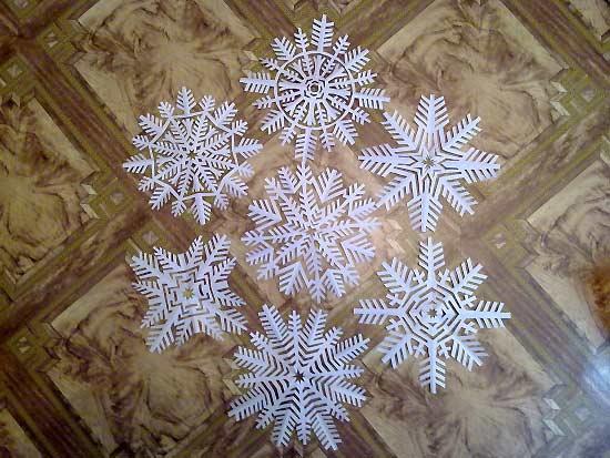Мои снежинки из бумаги